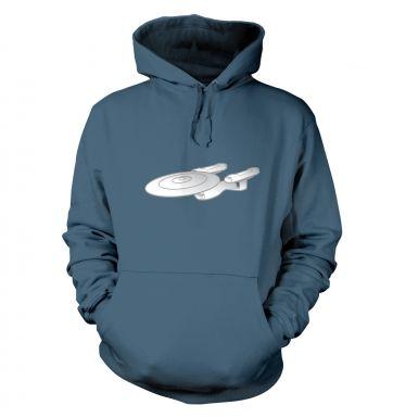 Silver Starship Enterprise hoodie