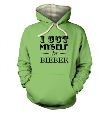 slogan I cut myself for bieber s  hoodie (premium)