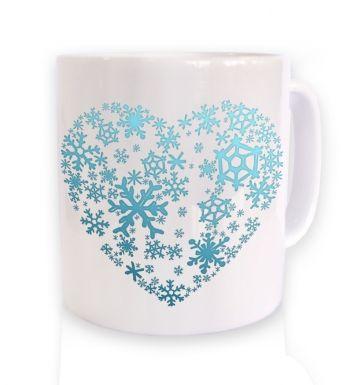 Snowflake Heart Christmas mug