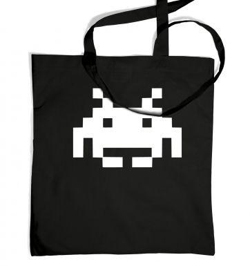 Alien Invader Pixel Art tote bag
