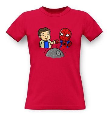 Spider-Man Death Star classic womens t-shirt