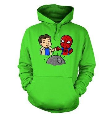 Spider-Man Death Star hoodie