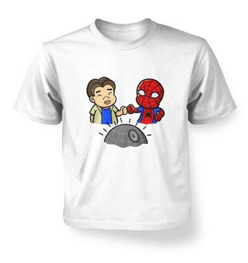 Spider-Man Death Star kids t-shirt