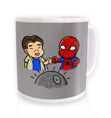 Spider-Man Death Star mug