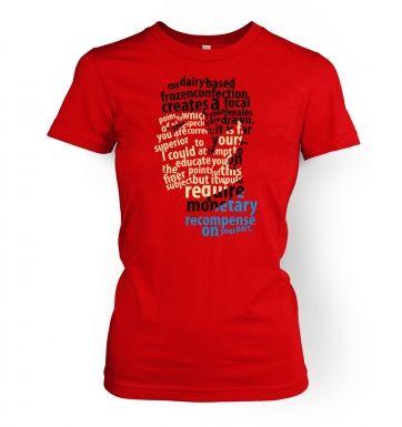 Spock's Milkshake women's t-shirt