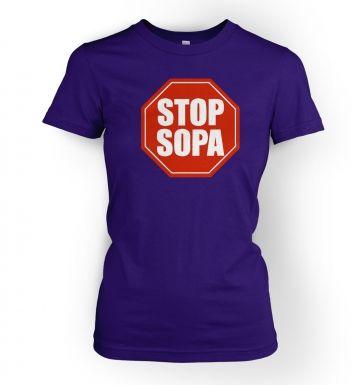 Stop SOPA  womens t-shirt