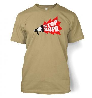 Stop SOPA Megaphone t-shirt