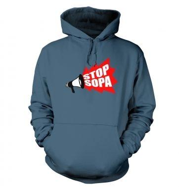Stop SOPA Megaphone hoodie