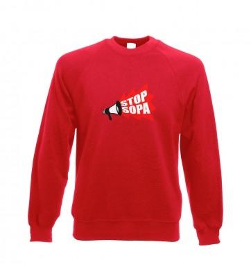 Stop SOPA Megaphone sweatshirt