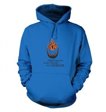 Telnet into Mordor hoodie