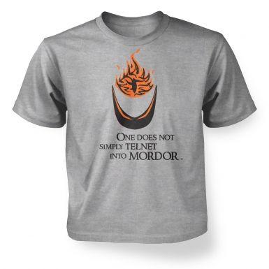 Telnet into Mordor kids' t-shirt