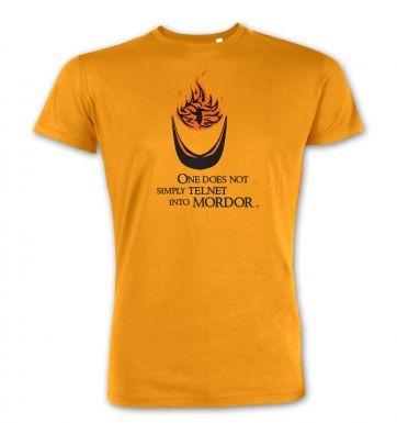 Telnet Into Mordor premium t-shirt