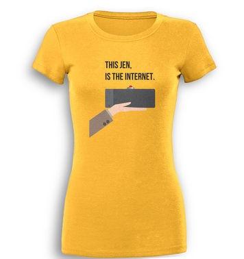 The Internet premium womens t-shirt