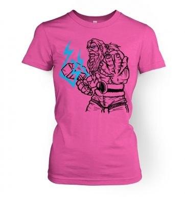 God Of Thunder Lineart Thor women's t-shirt