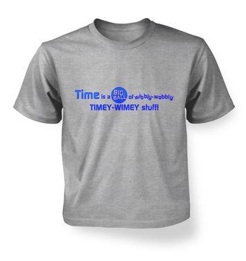 TimeyWimey Stuff kids t-shirt