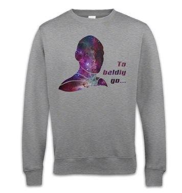 To BALDLY Go sweatshirt