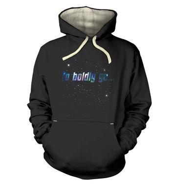 To Boldly Go premium hoodie