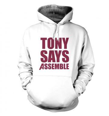 Tony Says Assemble hoodie