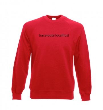 Traceroute localhost sweatshirt