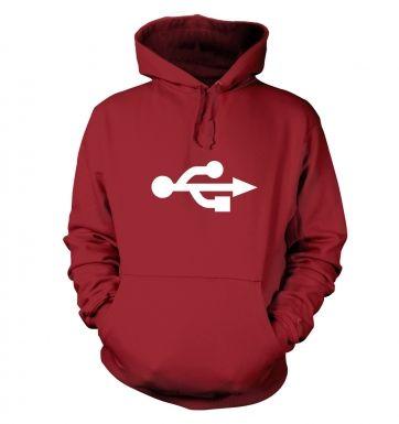 USB Universal Serial Bus symbol hoodie