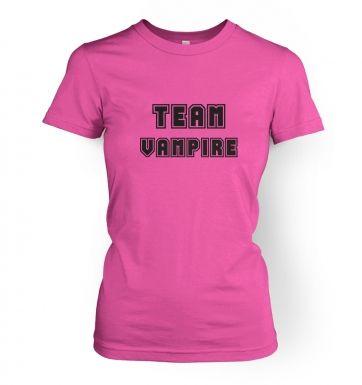 Varsity Style Team Vampire  womens t-shirt