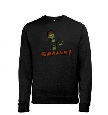 Veggie Zombie heather sweatshirt
