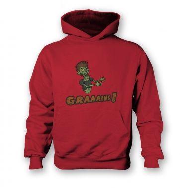 Veggie Zombie  kids hoodie