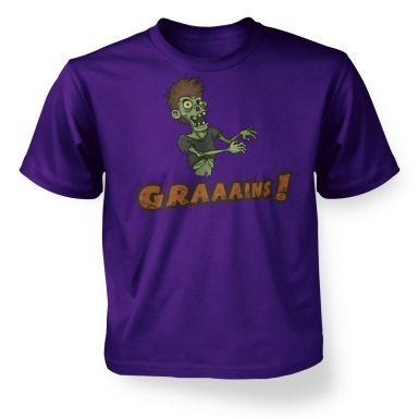 Veggie Zombie  kids t-shirt