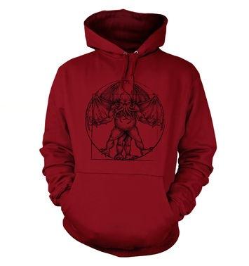Vitruvian Cthulhu hoodie