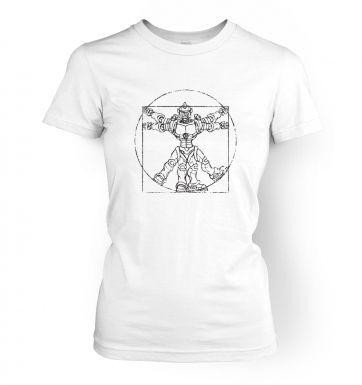 Vitruvian Robot  womens t-shirt