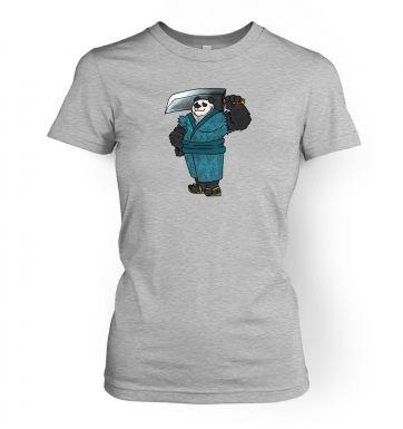 Warrior Panda  womens t-shirt