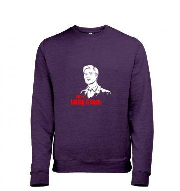 We're taking it back heather sweatshirt