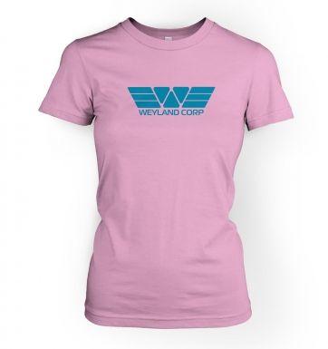 Weyland Corp (blue) women's t-shirt