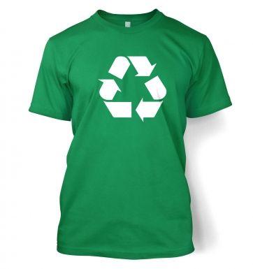 White Recycling Symbol  t-shirt