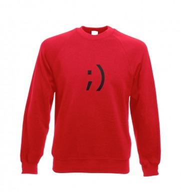 Wink Emoticon sweatshirt