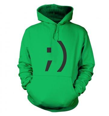 Wink Emoticon hoodie