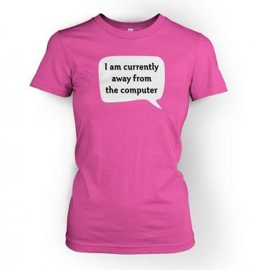 Away From Computer AFK women's t-shirt