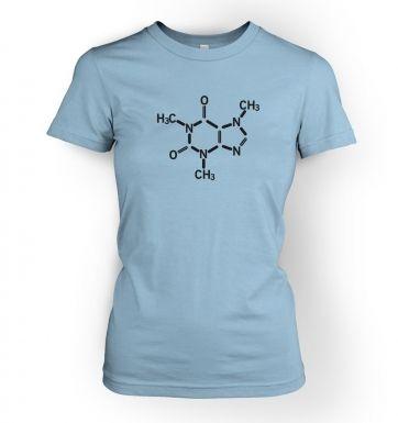 Caffeine Molecule  womens t-shirt