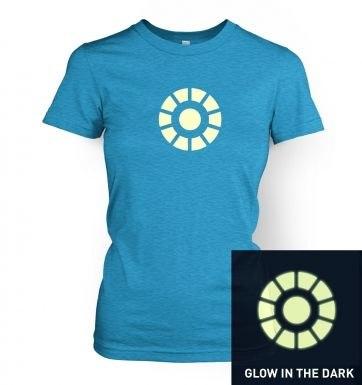 Arc Reactor (glow in the dark) women's t-shirt