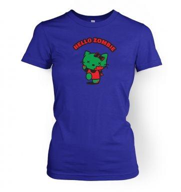 Hello Zombie womens t-shirt