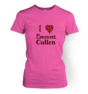 I heart Emmett Cullen womens t-shirt