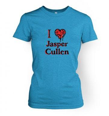 I heart Jasper Cullen womens t-shirt