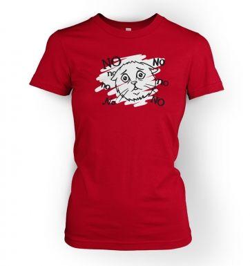 No No No Cat womens t-shirt