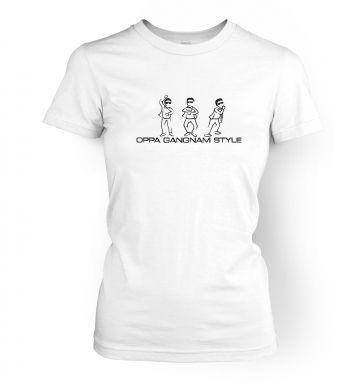 Oppa Gangnam Style women's t-shirt