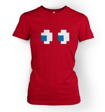 Ghost Eyes  womens t-shirt