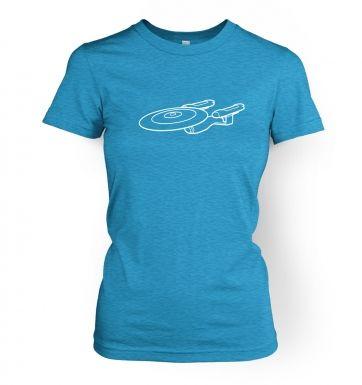 White Starship Enterprise women's t-shirt
