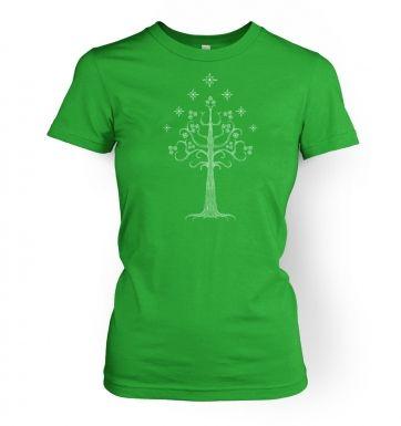 White Tree of Gondor womens t-shirt
