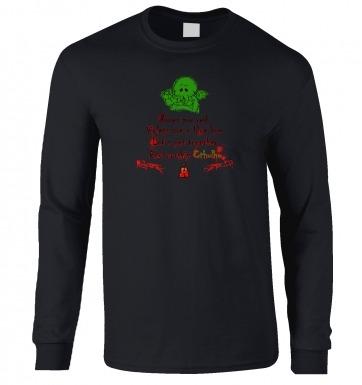 Worship Cthulhu Romantic Poem long-sleeved t-shirt
