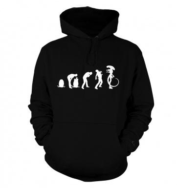 Xenomorph Evolution hoodie (white)
