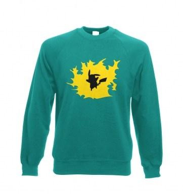 Yellow Pikachu Silhouette sweatshirt